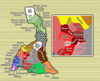 Far North Region, Cameroon - Locations of the various ethnic groups of the Far North Province