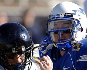 Eye black - American Football players wearing eye black.