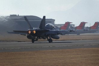 Marine Corps Air Station Iwakuni - USMC F/A-18D takes off from MCAS Iwakuni in December 2005
