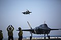 F-35Bs of VMFAT-501 land on USS Wasp (LHD-1) in May 2015.jpg