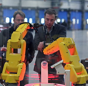 Elon Musk - Image: FANUC Robot Assembly Demo