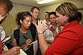 FEMA - 37818 - Press gaggle in Louisiana with the Governor's Press Secretary.jpg