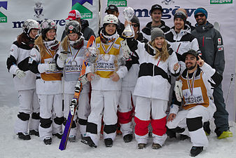 FIS Moguls World Cup 2015 Finals - Megève - 20150315 - Team Canada.jpg