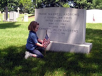 Frank Maxwell Andrews - Andrews' grave at Arlington National Cemetery.