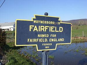 Fairfield, Pennsylvania - Image: Fairfield, PA Keystone Marker 2