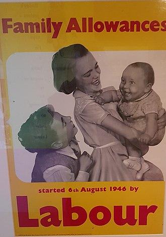 Child benefit - Family Allowances Labour Party poster