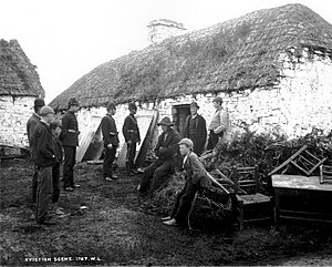 Land War - Image: Family evicted by their landlord during the Irish Land War c 1879