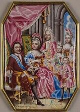 Family of Peter I of Russia by G.Muskiyskiy (1716-7, Hermitage).jpg