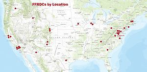 Federally funded research and development centers - FFRDC locations
