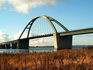 Fehmarn Sound Bridge - Fehmarn Sound bridge seen from Wulfener Hals