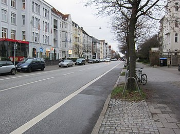 Feldstraße auf Höhe Esmarchstraße