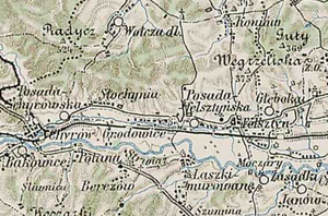 Skelivka - Felsztyn and surrounding villages, in 1889