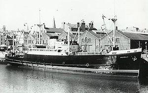 MV Fenella (1951) - Fenella at the Office Berth, Douglas, Isle of Man.