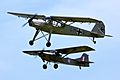 Fieseler Storch and Auster AOP - Shuttleworth Military Pageant June 2013 (9194538324).jpg