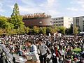 Fire drill in Kansai University.JPG