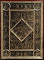 Firenze, copertina da un evangeliario del cardinale jean la balou, in argento niellato, 1467-68 ca.jpg