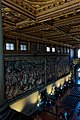 Firenze - Florence - Palazzo Vecchio - 2nd Floor - Balcony of Salone dei Cinquecento 1496 - View on West Wall.jpg