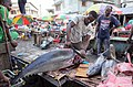 Fish section in Comoros market.jpg