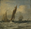 Fishing Boats at Sea (Willem van de Velde d.y.) - Nationalmuseum - 17676.tif