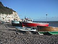 Fishing Boats drawn up on Beer Beach - geograph.org.uk - 1069884.jpg
