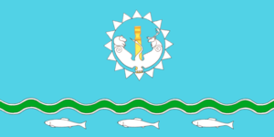Abyysky District - Image: Flag of Abyysky rayon (Yakutia)