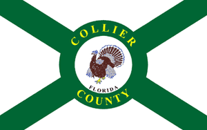Chokoloskee, Florida - Image: Flag of Collier County, Florida