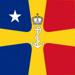 Flag of Romanian Commander of the Navy as Rear Admiral (WWII).svg