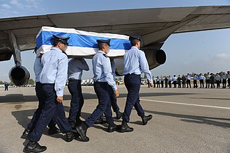 2010 IAF Sikorsky CH-53 crash - A memorial ceremony for the fallen soldiers of the Yasur helicopter crash was held in Tel Nof Airbase, upon the victims' return to Israel.