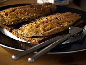 "Mackerel as food - Rye bread with smoked ""pepper mackerel"", Denmark"