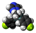 Flusilazole 3D spacefill.png