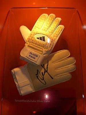Football gloves of Oliver Kahn