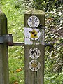 Footpath sign at Tonbridge and Malling, Kent.jpg