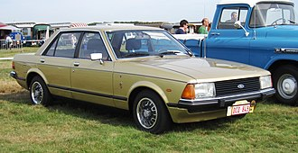 Ford Granada (Europe) - Although most surviving Granada Mark IIs feature the body-coloured post-facelift (1981) grille, the earlier cars came with a simple black grille regardless of body colour.