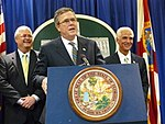 Former Governor Jeb Bush speaking about improving education in Florida during a news conference at the Capitol.jpg