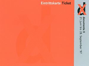 Documenta X - Foto Ticket documenta X