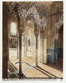 Fotografi av Granada. Alhambra, El Patio de los Leones desde la sala de Justicia. (Kolorerad.) - Hallwylska museet - 104835.tif