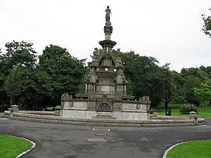 Kelvingrove Park - The Stewart Memorial Fountain, celebrating the establishment of the Loch Katrine and Milngavie waterworks
