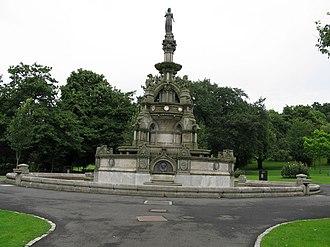 Kelvingrove Park - The Stewart Memorial Fountain, celebrating the establishment of the Loch Katrine and Milngavie waterworks