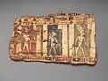 Fragment of cartonnage depicting three deities MET DP704052.jpg