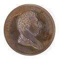 Framsida av medalj med Karl XIV Johan i profil - Skoklosters slott - 99248.tif