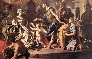 Dido receiving Aeneas and Cupid disguised as Ascanius