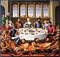 Francesco di girolamo da santacroce, banchetto con satiri, 1545 ca. 01.jpg