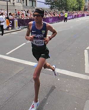 Franck de Almeida - Franck De Almeida in the marathon at the 2012 Olympics in London