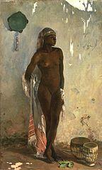 Esclave nue au tambourin