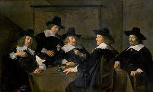 Francois Woutersz - The regents of the St. Elisabeth Gasthuis, by Hals in 1641