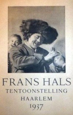 Gerrit David Gratama - Cover of the 1937 Frans Hals exhibition catalog featuring Two laughing boys with mug of beer