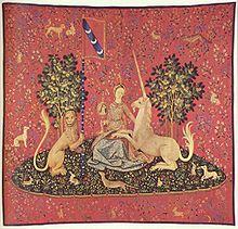 Particolare da La Dame à la licorne, arazzo fiammingo del XV sec.. Hôtel de Cluny