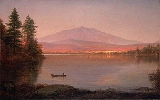 Mount Katahdin - Mount Katahdin from Millinocket Camp,  by Frederic Edwin Church, 1895