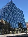 Freiburger Universitätsbibliothek Wegen herabfallender Fassadenteile wurde die Umgebung abgesperrt 9.jpg