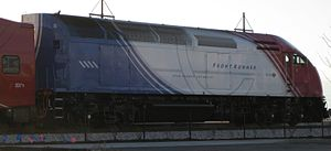 Picture taken of a locomotive of the new :en:F...